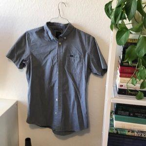 Soft grey button up RCVA shirt